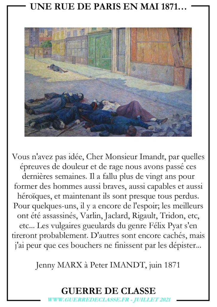 UNE RUE DE PARIS EN MAI 1871…